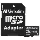 Verbatim 44082 16 GB MicroSDHC UHS-I V10 U1 Class 10 Memory Card with Adapter