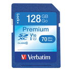 Verbatim 44025 Premium 128 GB SDXC UHS-I V10 U1 Class 10 Memory Card