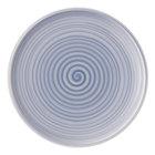 "Villeroy &amp&#x3b; Boch 10-4858-2620 Artesano Nature 10 1/2"" Bleu Premium Porcelain Flat Coupe Dinner Plate - 6/Case"