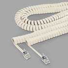 Softalk 48100 12' Ivory Coiled Phone Handset Cord