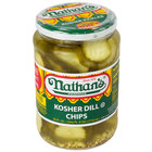 Nathan's Famous 24 oz. Kosher Dill Pickle Chips - 12/Case