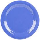 GET NP-9-PB Diamond Mardi Gras 9 inch Peacock Blue Narrow Rim Round Melamine Plate - 24/Case