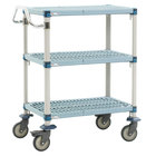Metro MQUC2436G-35 MetroMax Q Utility Cart with 5 inch Polyurethane Casters 24 inch x 36 inch