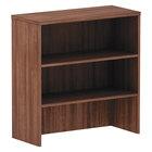 Alera ALEVA283415WA Valencia Walnut 3 Compartment Bookcase Hutch - 34 inch x 35 1/2 inch x 15 inch