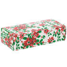 8 7/8 inch x 3 3/4 inch x 2 3/8 inch 1-Piece 2 lb. Poinsettia / Holiday Candy Box - 250/Case