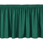 National Public Seating SS16-36 Green Shirred Stage Skirt for 16