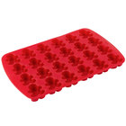 Wilton 2105-0553 Red Silicone 24 Compartment Gingerbread Man Dessert Mold