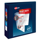 Avery 79803 Navy Blue Heavy-Duty View Binder with 3 inch Locking One Touch EZD Rings