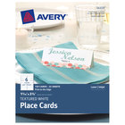 Avery 16109 1 7/16 inch x 3 3/4 inch White Textured Uncoated Perforated Place Card - 150/Pack
