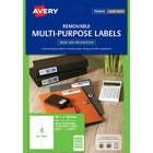 "Avery 95915 Easy Peel 1"" x 2 5/8"" White Rectangle Sure Feed Address Labels - 15000/Box"