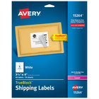 Avery 15264 TrueBlock 3 1/3 inch x 4 inch White Permanent Printable Shipping Label - 60/Pack