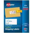 Avery 08363 TrueBlock 2 inch x 4 inch White Permanent Inkjet Shipping Label - 500/Box