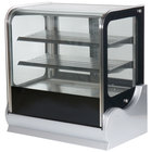 Vollrath 40864 60 inch Cubed Glass Refrigerated Countertop Display Cabinet