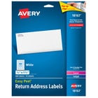 Avery 18167 Easy Peel 1/2 inch x 1 3/4 inch White Sure Feed Return Address Labels - 800/Pack