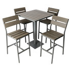 BFM Seating YH-SG30ST Margate 30 inch Square Bar Height Outdoor Table with 4 Stools