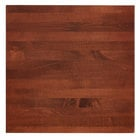 Lancaster Table & Seating 24 inch x 24 inch Solid Wood Live Edge Table Top with Mahogany Finish