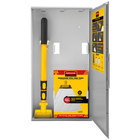 Rubbermaid 2031094 Spill Mop Biohazard Kit with Biohazard Mop Pads, Handle, and Storage Cabinet