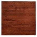 Lancaster Table & Seating 36 inch x 36 inch Solid Wood Live Edge Table Top with Mahogany Finish
