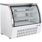 Avantco DLC36-HC-W 36 inch White Curved Glass Refrigerated Deli Case