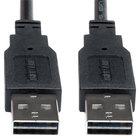 Tripp Lite UR020-006 6' Black USB 2.0 Reversible Cable with 2 Male Connectors