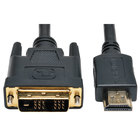 Tripp Lite P566006 6' Black HDMI to DVI Gold Digital Monitor Adapter Cable with 2 Male Connections