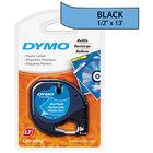 DYMO 91335 LetraTag 1/2 inch x 13' Blue Plastic Label Tape