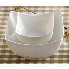CAC SHA-B6 Sushia 28 oz. Super White Square Porcelain Bowl - 36/Case