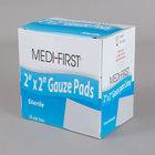 Medi-First 60673 2 inch x 2 inch Sterile Gauze Pad - 25/Box