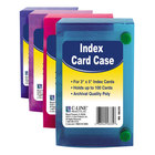 """C-Line 58335 3"""" x 5"""" Assorted Color Polypropylene Index Card Case with 100 Card Capacity"""