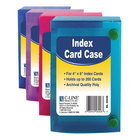 """C-Line 58046 4"""" x 6"""" Assorted Color Polypropylene Index Card Case with 200 Card Capacity"""