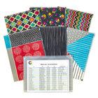 "C-Line 54610 Zip 'N Go 13 1/8"" x 10"" Assorted Color Playful Pops Reusable Envelope   - 3/Pack"