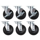 5 inch Swivel Plate Casters for Vulcan SX60 Series   - 6/Set