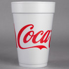 Dart 16J16C 16 oz. Coke® Foam Cup - 1000/Case