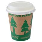 EcoChoice 8 oz. Kraft Paper Hot Cup and Lid - 100/Pack