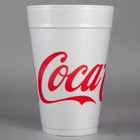 Dart 32TJ32C 32 oz. Coke® Foam Cup - 500/Case