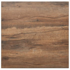 BFM Seating KP3030 Relic Knotty Pine 30 inch x 30 inch Square Melamine Table Top with Matching Edge