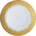 Bon Chef 200000G Tavola 13 inch Gold Foil Rim Glass Charger Plate