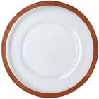 Bon Chef 200002RG Tavola 13 inch Rose Gold Rim Glass Charger Plate