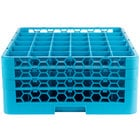 Carlisle RG36-314 OptiClean 36 Compartment Glass Rack with 3 Extenders