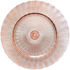 Bon Chef 200005RG Tavola 13 inch Rose Gold Sunray Glass Charger Plate