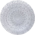 Bon Chef 200004S Tavola 13 inch Silver Luxury Glass Charger Plate