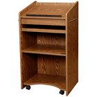 Oklahoma Sound 600-MO Medium Oak Finish Aristocrat Floor Host Stand