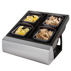 San Jamar MODBD2002KIT Mini Dome 4-Compartment Modular Condiment Bar