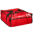 Cambro GBP318521 Insulated Red Pizza Delivery GoBag™ - Holds up to (3) 18 inch or (4) 16 inch Pizza Boxes
