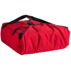 Cambro GBPP318521 Insulated Red Premium Pizza Delivery GoBag™ - Holds up to (3) 18 inch or (4) 16 inch Pizza Boxes