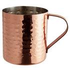 Acopa Alchemy 14 oz. Straight Sided Hammered Copper Moscow Mule Mug