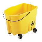 Rubbermaid 2064914 WaveBrake® 35 Qt. Yellow Mop Bucket