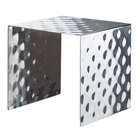 Bon Chef 2910 4 15/16 inch Hammered Stainless Steel Square Showcase Stand