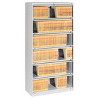 "Tennsco FS361LLGY Light Gray Closed Fixed 6-Shelf Lateral File Cabinet - 36"" x 16 1/2"" x 75 1/4"""