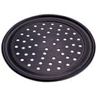 American Metalcraft PHCTP20 20 inch Perforated Hard Coat Anodized Aluminum Wide Rim Pizza Pan